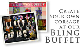 Get your Bling for Prom from the Bling Buffet at Jacobsen's Flowers