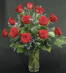 24 Beautiful Long Stem Red Roses In Waterford Michigan Jacobsen's Flowers