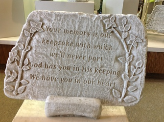 MEMORY IS OUR KEEPSAKE GARDEN STONE-TEMPORARILY SOLD OUT* In Waterford Michigan Jacobsen's Flowers