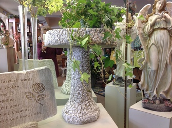 STONE BIRDBATH - TEMPORARILY SOLD OUT** In Waterford Michigan Jacobsen's Flowers