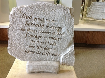 SERENITY PRAYER GARDEN STONE In Waterford Michigan Jacobsen's Flowers
