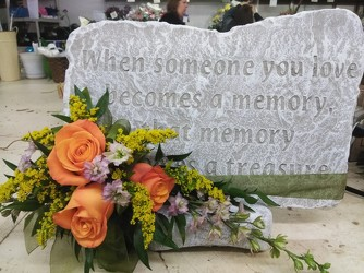 MEMORIAL STONE WITH TRIM PACKAGE In Waterford Michigan Jacobsen's Flowers