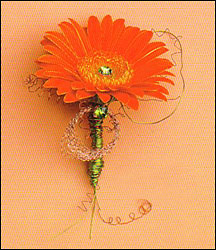 Wedding Flower Packages on Available In Many Colors  This Gerbera Daisy Boutonniere Is Bejeweled
