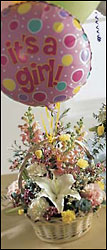 Baby Girl Bouquet with Balloons In Waterford Michigan Jacobsen's Flowers