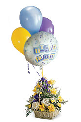 FTD Baby Boy Bouquet with Balloons In Waterford Michigan Jacobsen's Flowers