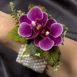 Purple Orchid Corsage In Waterford Michigan Jacobsen's Flowers