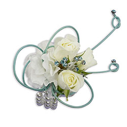French Quarter Wrist Corsage In Waterford Michigan Jacobsen's Flowers