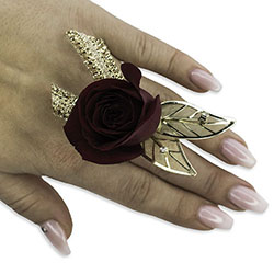 Ruby Metallic Floral Ring In Waterford Michigan Jacobsen's Flowers