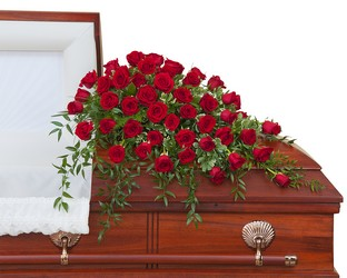 Simply Roses  Supreme Casket Spray In Waterford Michigan Jacobsen's Flowers