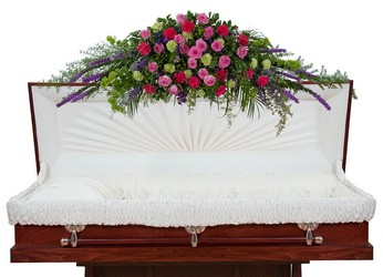 Forever Cherished Full Casket Spray In Waterford Michigan Jacobsen's Flowers