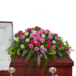 Forever Cherished Casket Spray In Waterford Michigan Jacobsen's Flowers