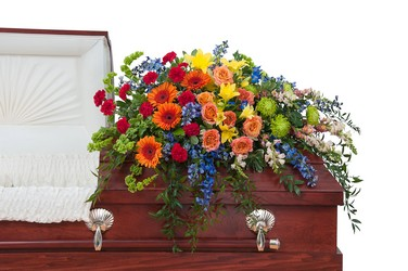 Treasured Celebration Casket Spray In Waterford Michigan Jacobsen's Flowers