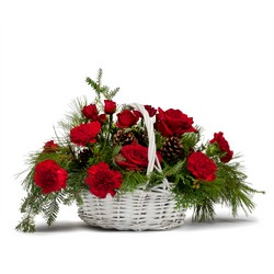 Classic Holiday Basket In Waterford Michigan Jacobsen's Flowers
