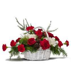 Holiday Basket Bouquet In Waterford Michigan Jacobsen's Flowers