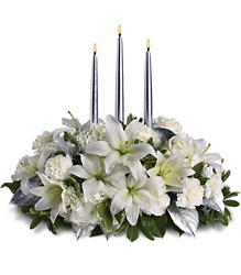 Silver Elegance Centerpiece In Waterford Michigan Jacobsen's Flowers